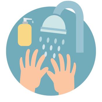 予防がいちばん-インフルエンザ-手洗いイラスト