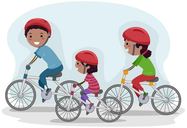 親子で自転車
