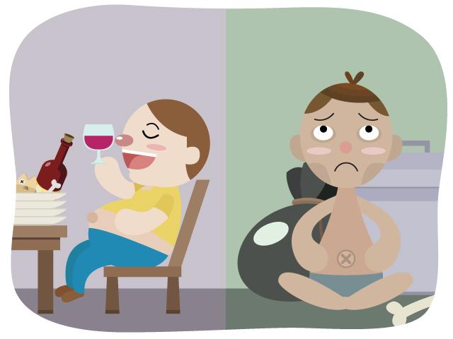 過体重と低栄養