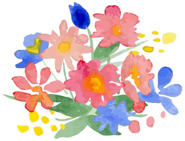 病院内に花を飾る