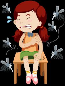 蚊に刺される女の子