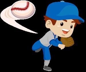 少年野球のピッチャー