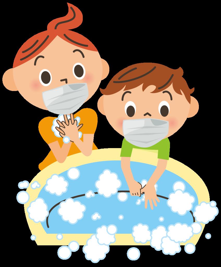感染症予防に手洗い