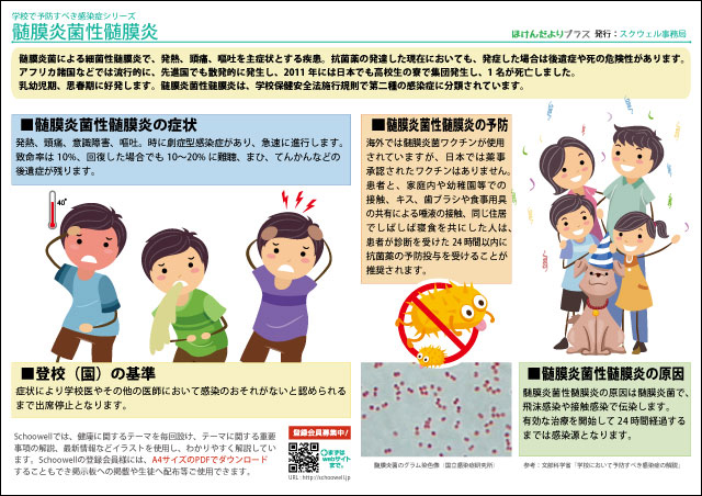 髄膜炎菌性髄膜炎(学校で予防すべき感染症)-無料-画像-フリー