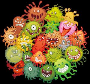 病原菌のイラスト