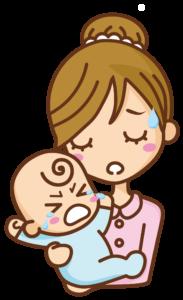 妊婦と赤ちゃんのイラスト