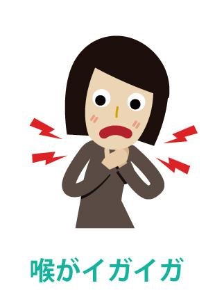 インフルエンザの症状 - 喉が痛い