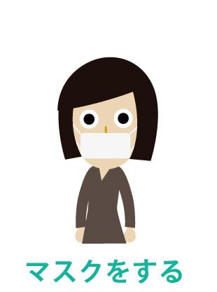 インフルエンザの予防 - マスクをする