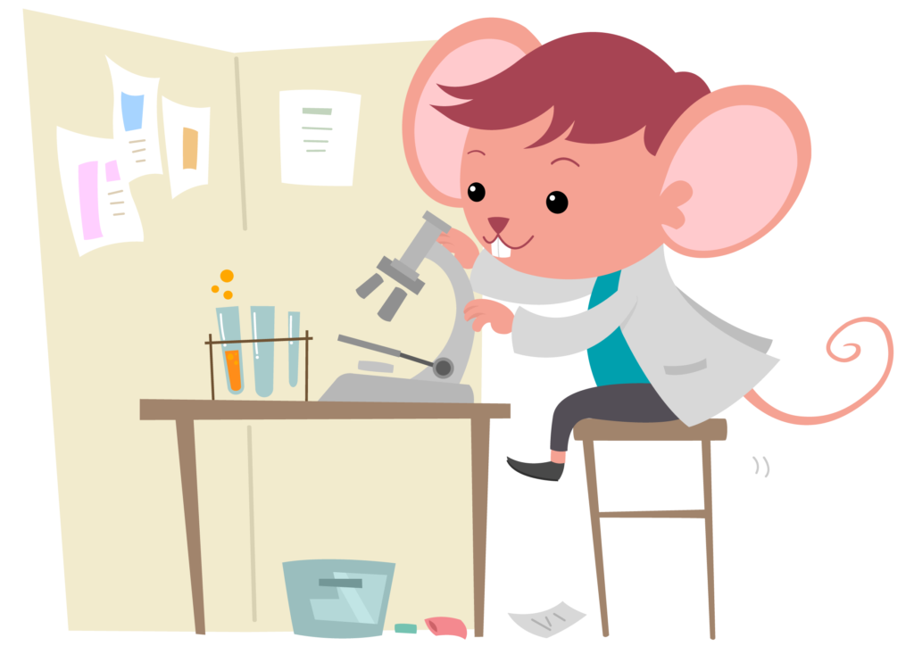 マウスで実験
