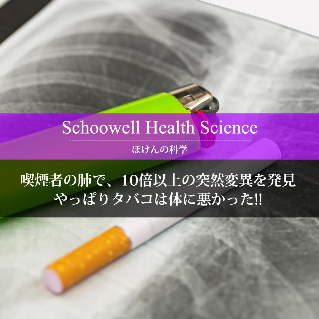 喫煙者の肺で、10倍以上の突然変異を発見 やっぱりタバコは体に悪かった!!