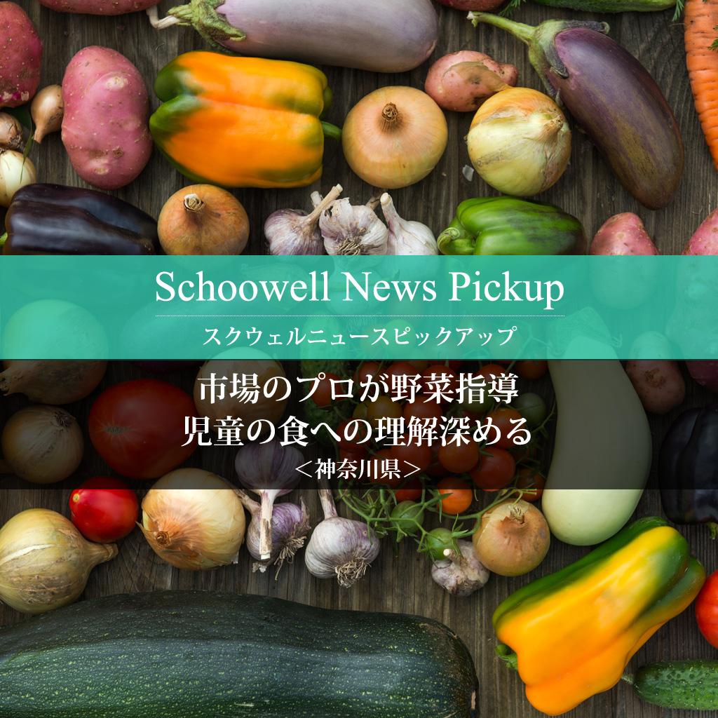 市場のプロが野菜指導 児童の食への理解深める