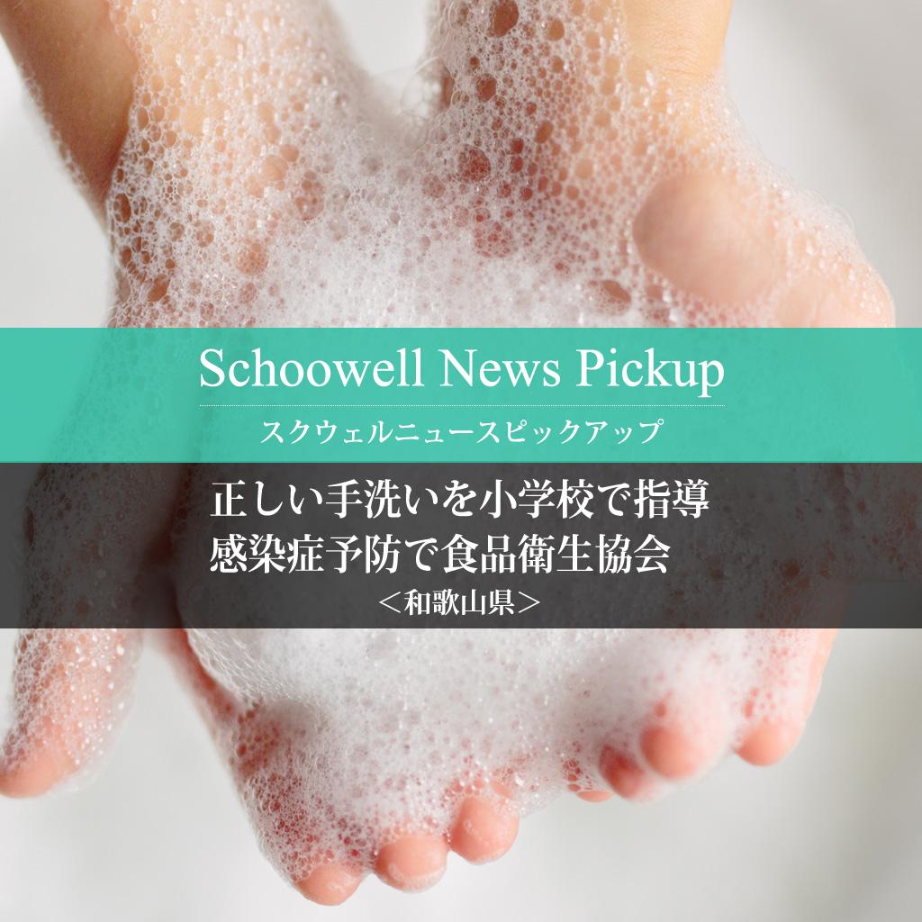 正しい手洗いを小学校で指導 感染症予防で食品衛生協会