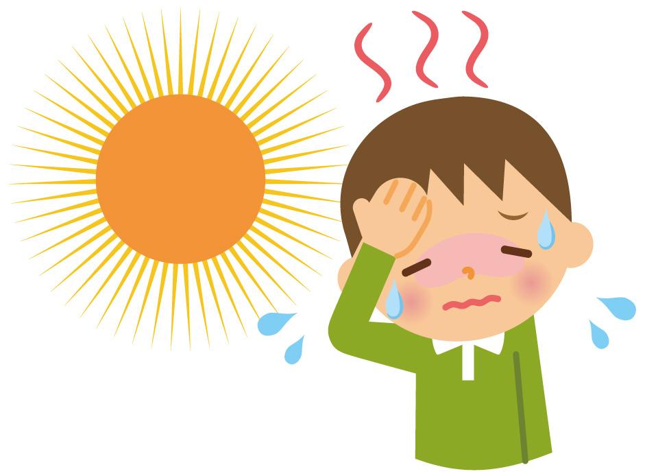 熱中症の重症度と対処方法イラスト