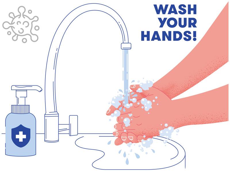 ノロウイルスの予防に手洗い